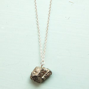 Image of Raw Pyrite Necklace