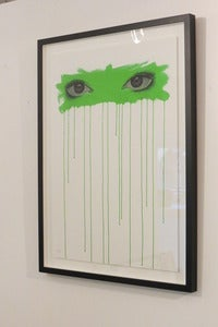 Image of &quot;Sometimes I Look Into Your Eyes...(Green)&quot; ltd. edition giclee print by Mydogsighs