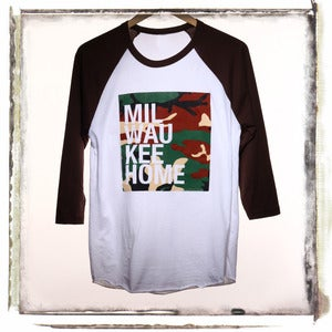 MKE Camo 3/4 sleeve Raglan