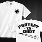 "Image of ""PROTECT YA CHEST"" White Tee"