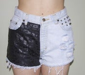 Image of Blk Cheetah High Waisted Shorts