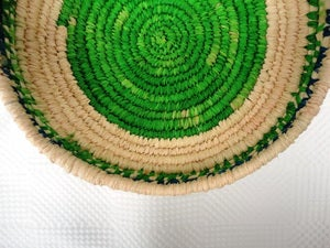 Image of ^green fields^ woven bowl 2012