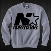 "Image of ""NORTHSTAR"" Grey Crew Neck"