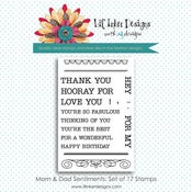 Image of Mom & Dad Sentiments Stamp Set