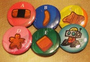 Image of The Ara-Rangers button set #1
