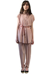 Image of PALE PINK BUTTON-UP