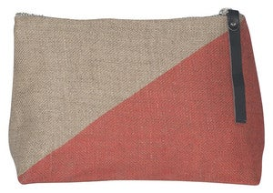 Image of Sasha Small Linen Cosmetic Bag:: Sandalwood