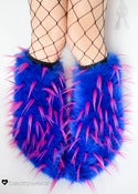 Image of Spiked fluffies uv blue/neon pink