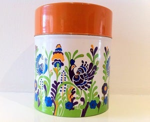 Image of RETRO KITSCH BIRD CANISTER-SOLD