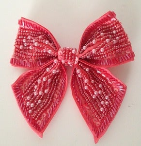 Image of Coral Beaded Bow