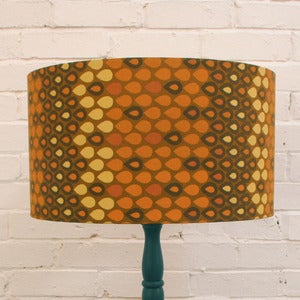 Image of Large Lampshade in Vintage Yellow Heals Fabric - SOLD