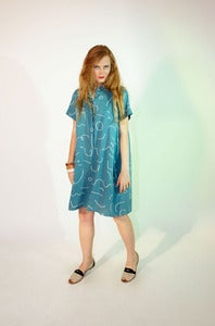 Image of Blue Squiggle Tee Dress