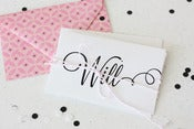 Image of Will you be my bridesmaid linen printed cards