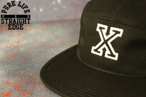 Image of Black 5 Panel Hat 