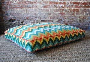 Image of Multi Chevron Dog Bed