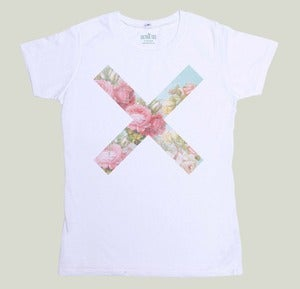 Image of T-shirt Flower Cross by J.S. Rickenmann
