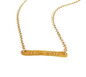 Image of  Coordinate Bar Necklace