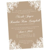 Image of Lace and Burlap wedding invitations