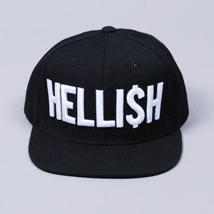 Image of Hellish Snapback Cap (Black)