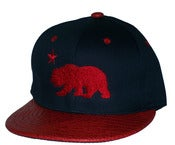 Image of Califorina Republic Blue/Red Croc Print Strap back Hat Cap