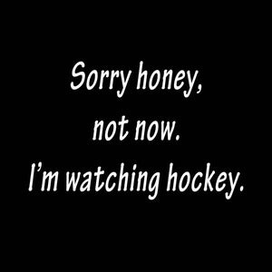 Image of Sorry Honey...watching hockey shirt
