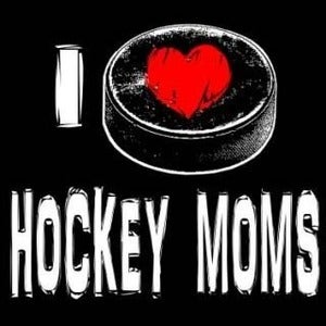 Image of I love hockey moms shirt
