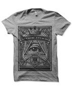 Image of Attack! Attack! Grey all seeing eye Tshirt