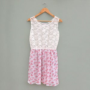 Image of Floral Pink Baby Doll Dress by Kee Boutique