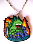 Image of Godzilla necklace