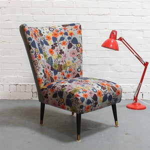 Image of Vintage Cocktail Chair in Nasturtium