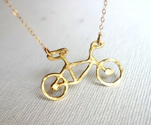 Image of Le Very Petite Brass Bike Necklace