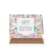 Image of Happy Birthday Geometric Card