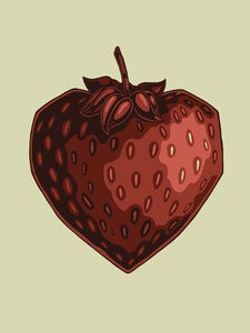Image of Strawberry Love Forever // 18x24 ArtPrint