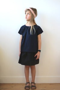 Image of TUSS Diana blouse navy blue
