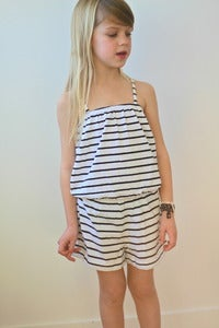 Image of TUSS Demi jumpsuit black/white striped