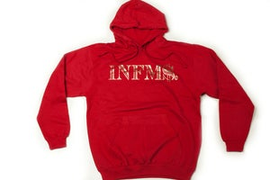 Image of Infamous &quot;INFM$&quot; Gold and Cardinal Hoodie 