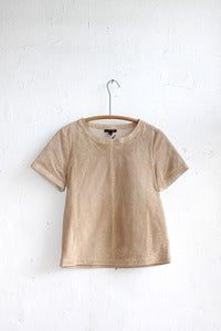 Image of La Fe Verte  Leather Perforated Square Tee 