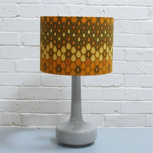 Image of NEW! Bell Bottom Table Lamp in Grey with Vintage Yellow Heals Shade