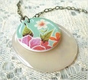 Image of Tropical Snow - A Mexican Oilcloth Inspired Necklace