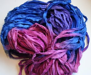 Image of Berry Patch Reclaimed Silk Chiffon Ribbon