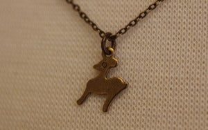 Image of Tiny Deer Necklace