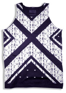 Image of KENTE TANK TOP | navy