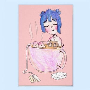 Image of Earl Grey Tea Bath Poster