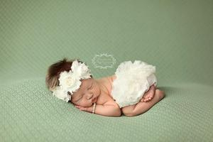 Image of Ruffle Diaper Cover & Headband Set