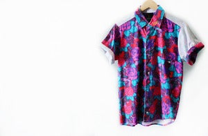 Image of CUSTOM FLORAL BUTTON UP