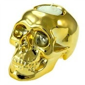Image of Gold Skull Tealight Holder