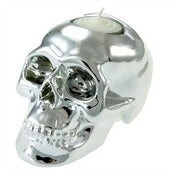 Image of Silver Skull Tealight Holder
