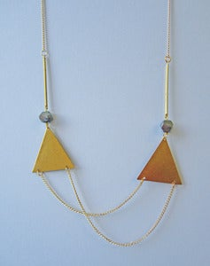 Image of Deianira Double Triangle Necklace