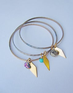 Image of Penelope Gemstone Vintage Charm Bangle