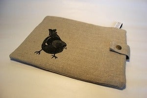 Image of Curious Chaffinch Ipad sleeve